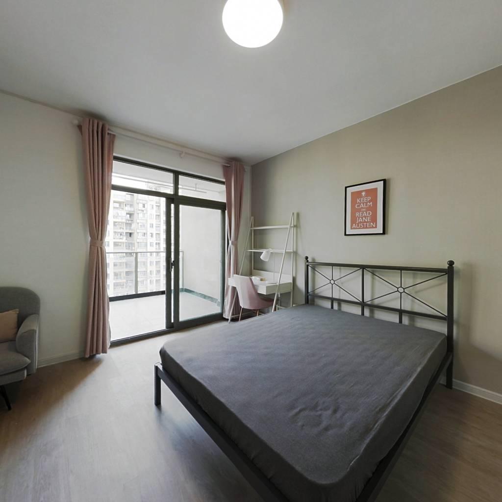 合租·红街公寓 4室1厅 北卧室图