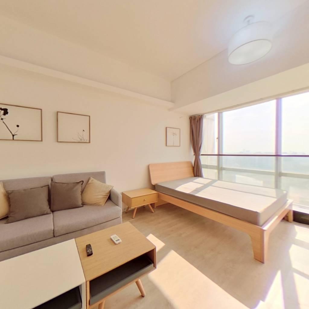 整租·锦源国际公寓 1室1厅 南卧室图