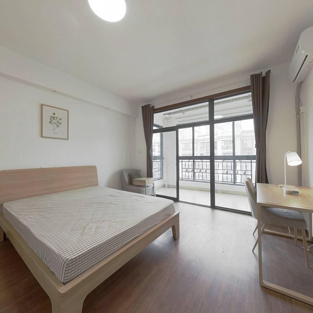 合租·新里维多利亚公寓 4室1厅 西南卧室图