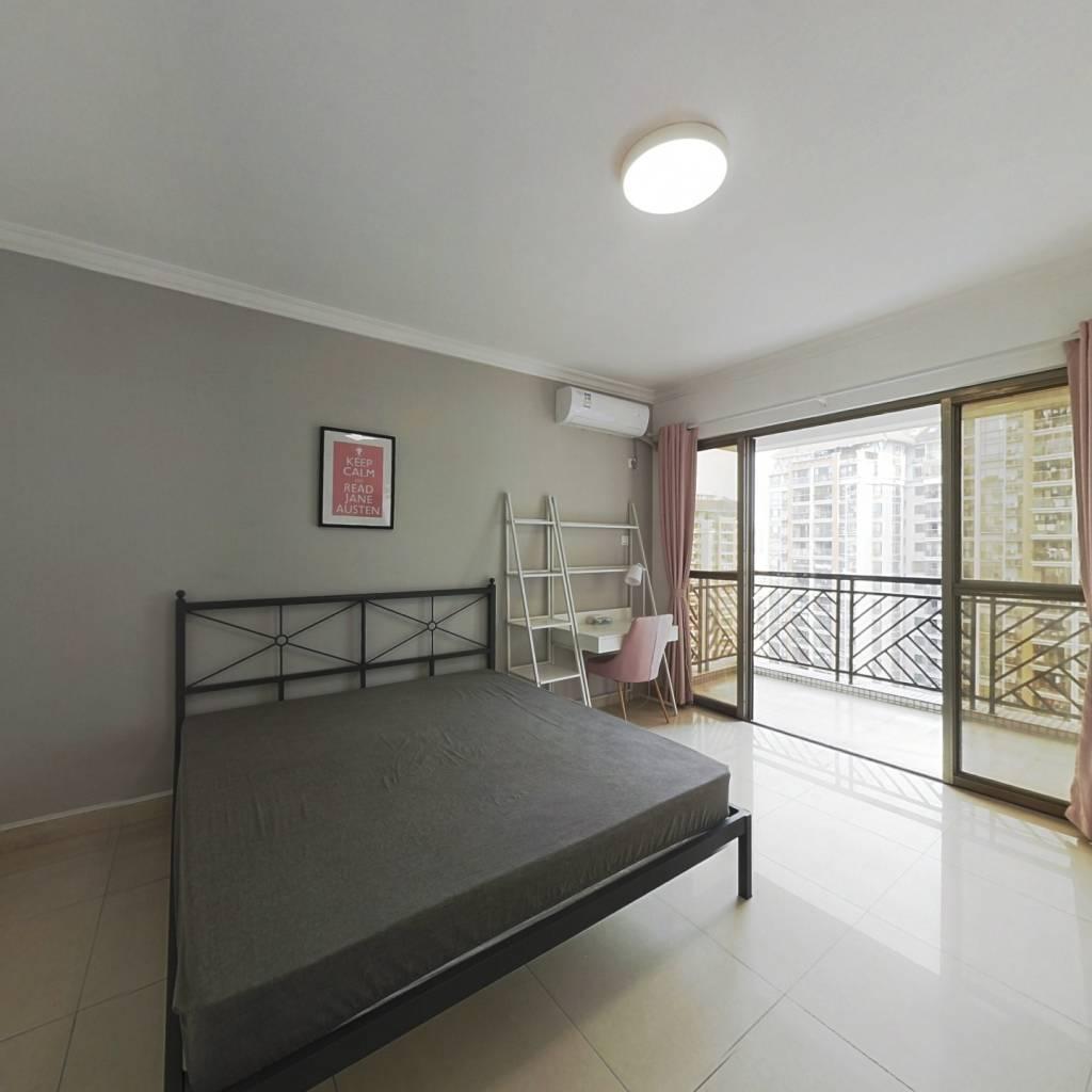 合租·纵横缤城 4室1厅 北卧室图