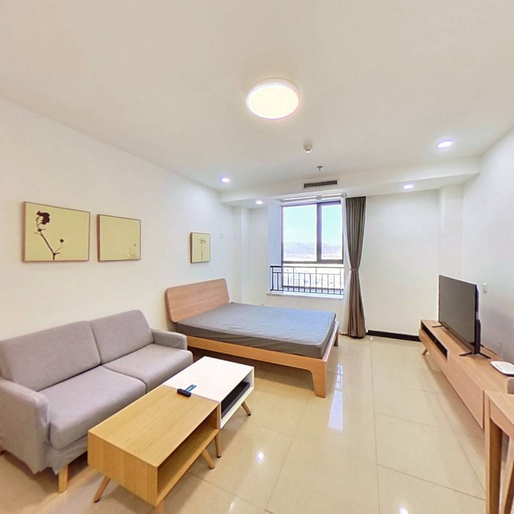整租·琥珀郡 1室1厅 北卧室图