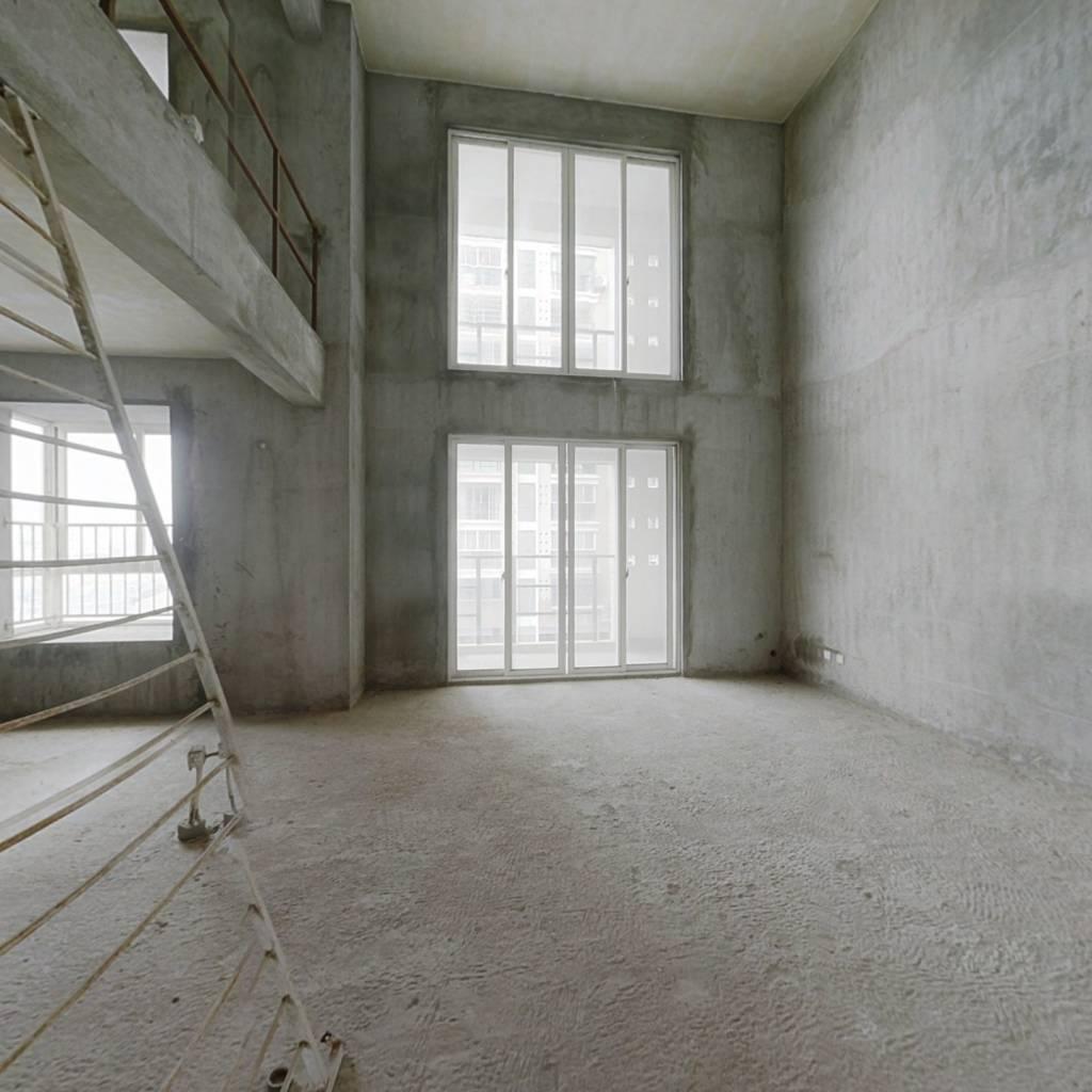 沿江社区 电梯复式 客厅挑高  全明户型