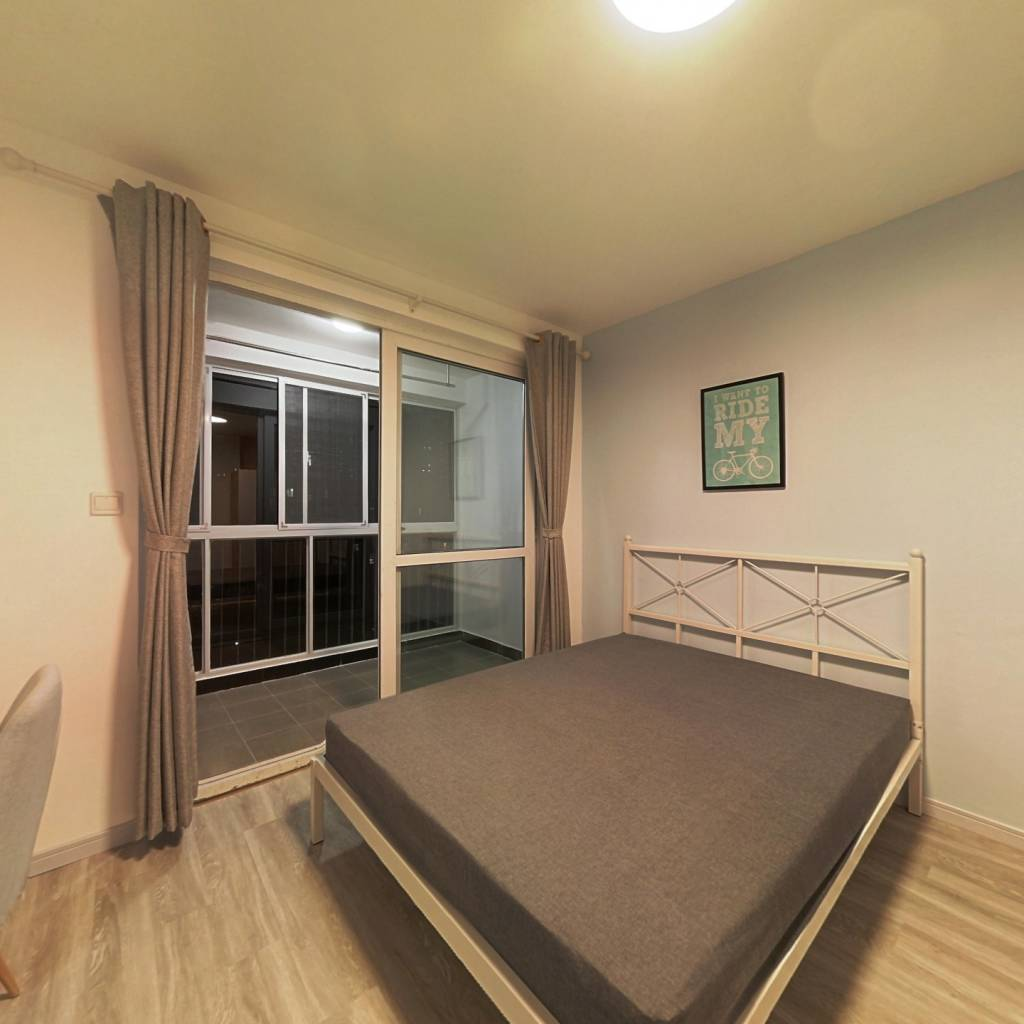 合租·金硕河畔景园西区 3室1厅 南卧室图