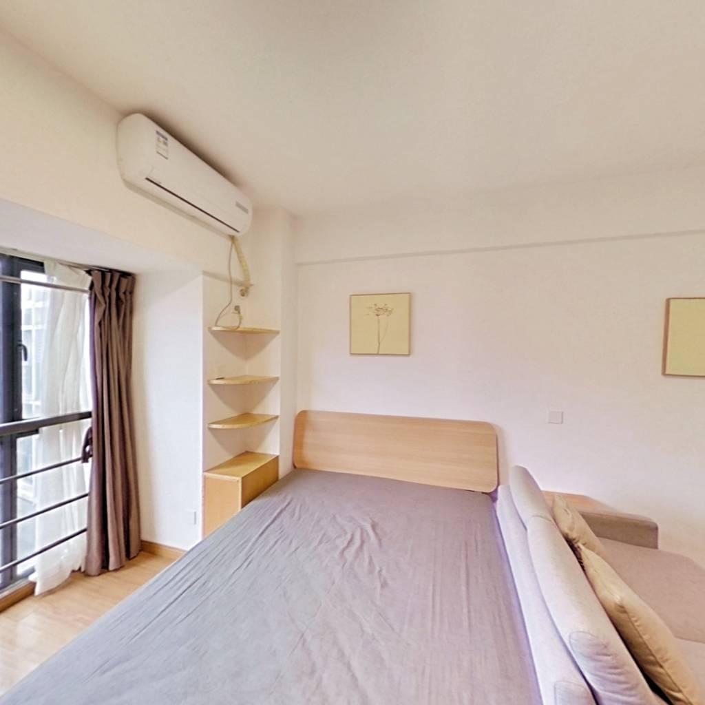 整租·万达紫金明珠 1室1厅 北卧室图