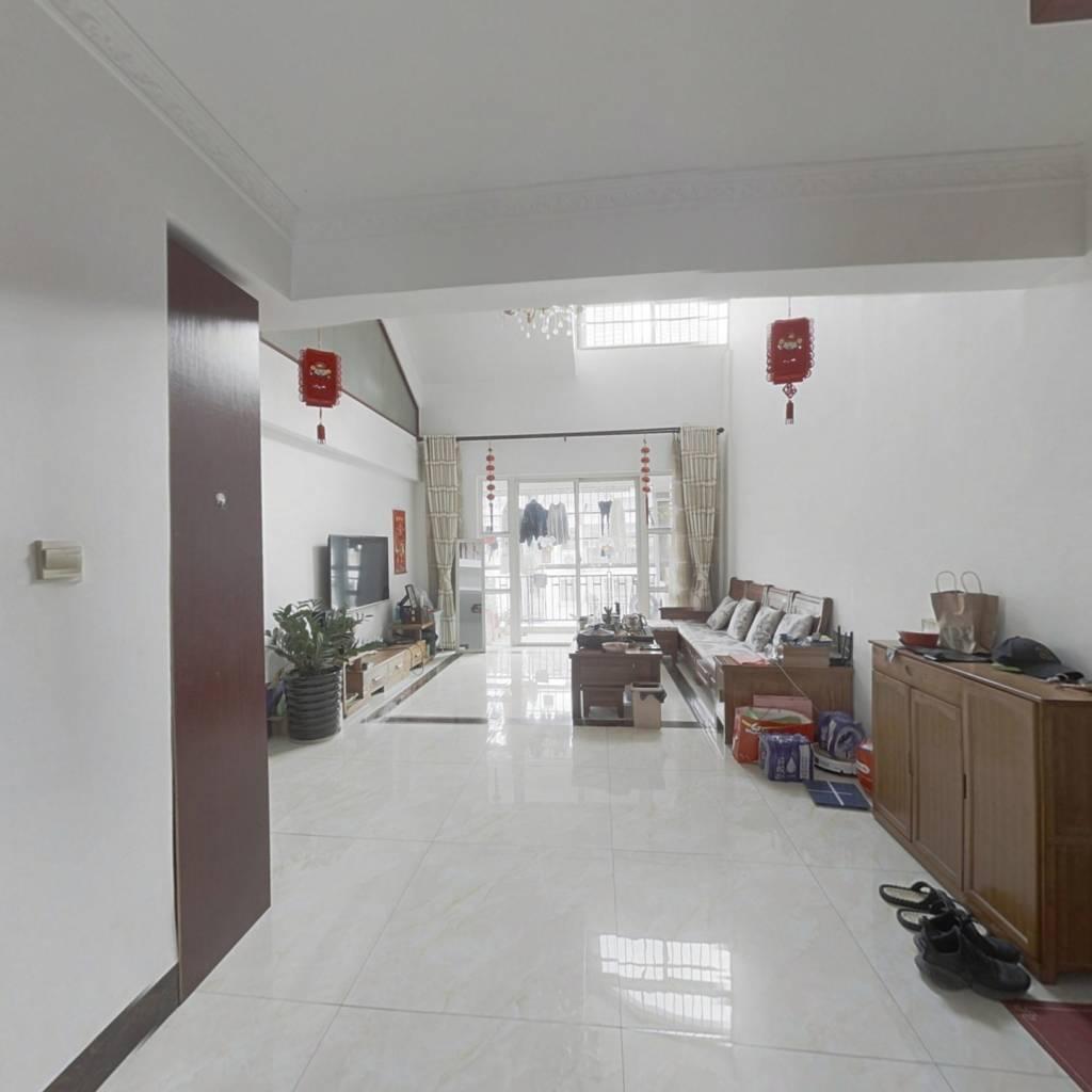 凤岭北不靠路边朝南精装客厅挑高6米楼中楼