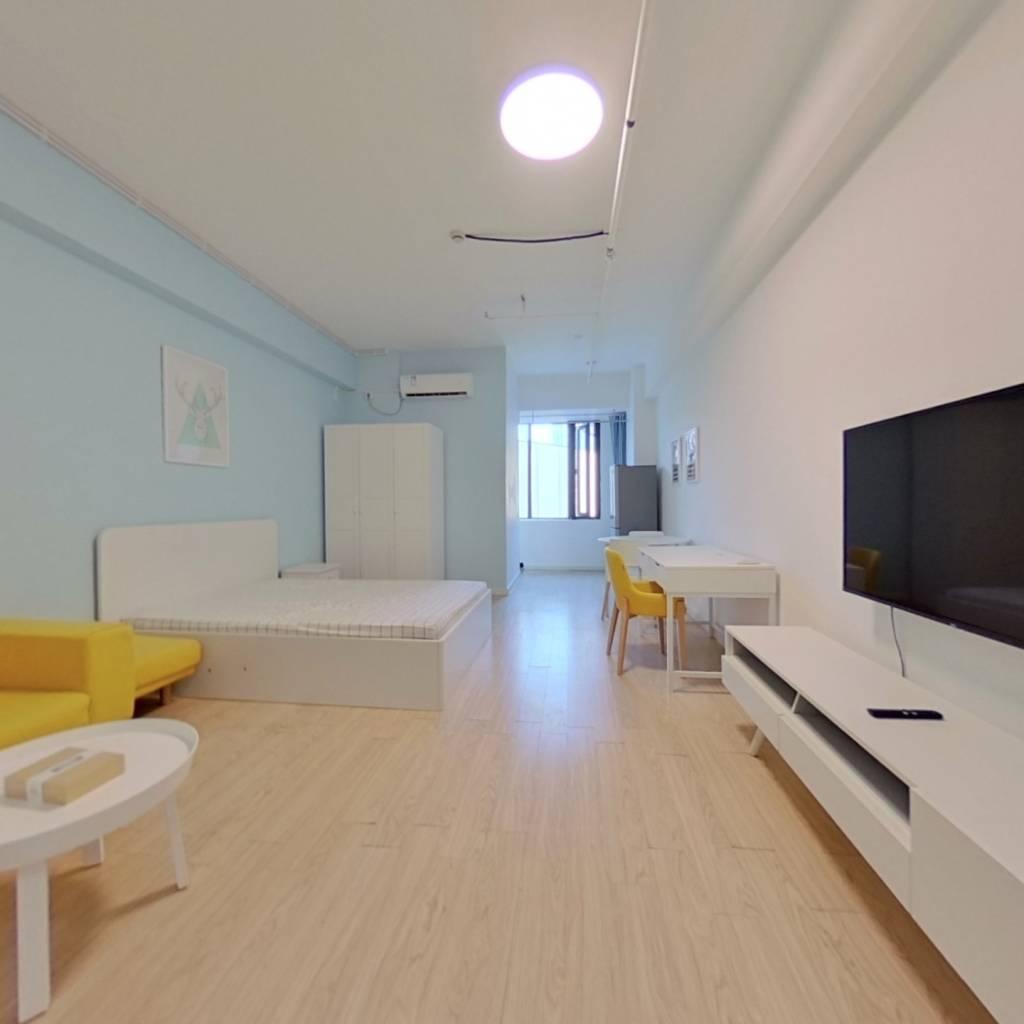 整租·绿地公园广场 1室1厅 南卧室图
