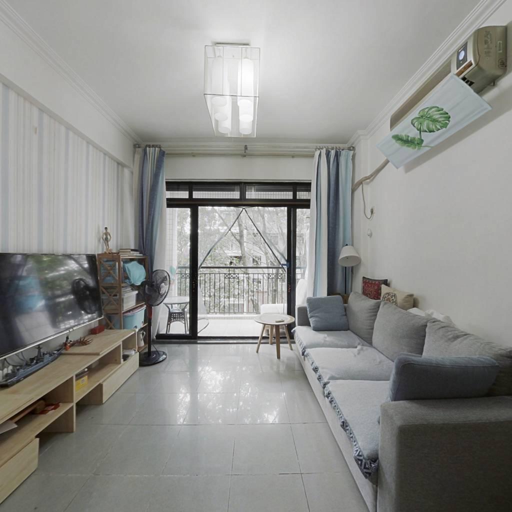 丽江花园华林居新装两房   花园中间  拎包入住