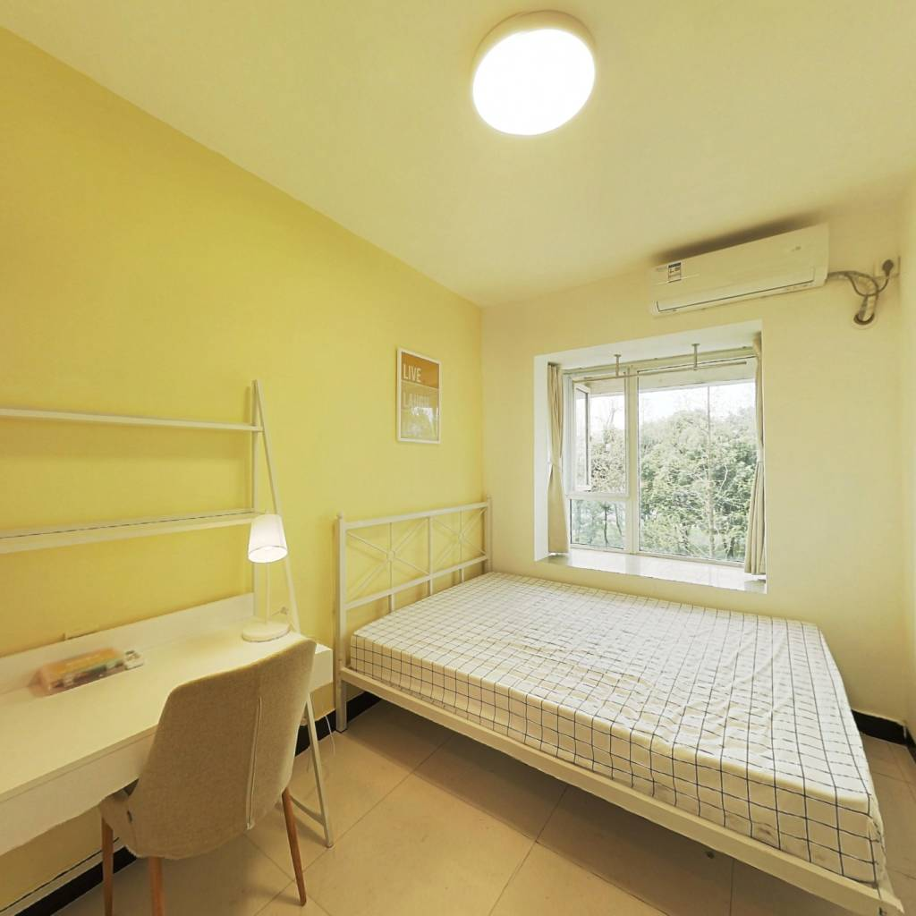 合租·蓝光富丽花城 3室1厅 北卧室图
