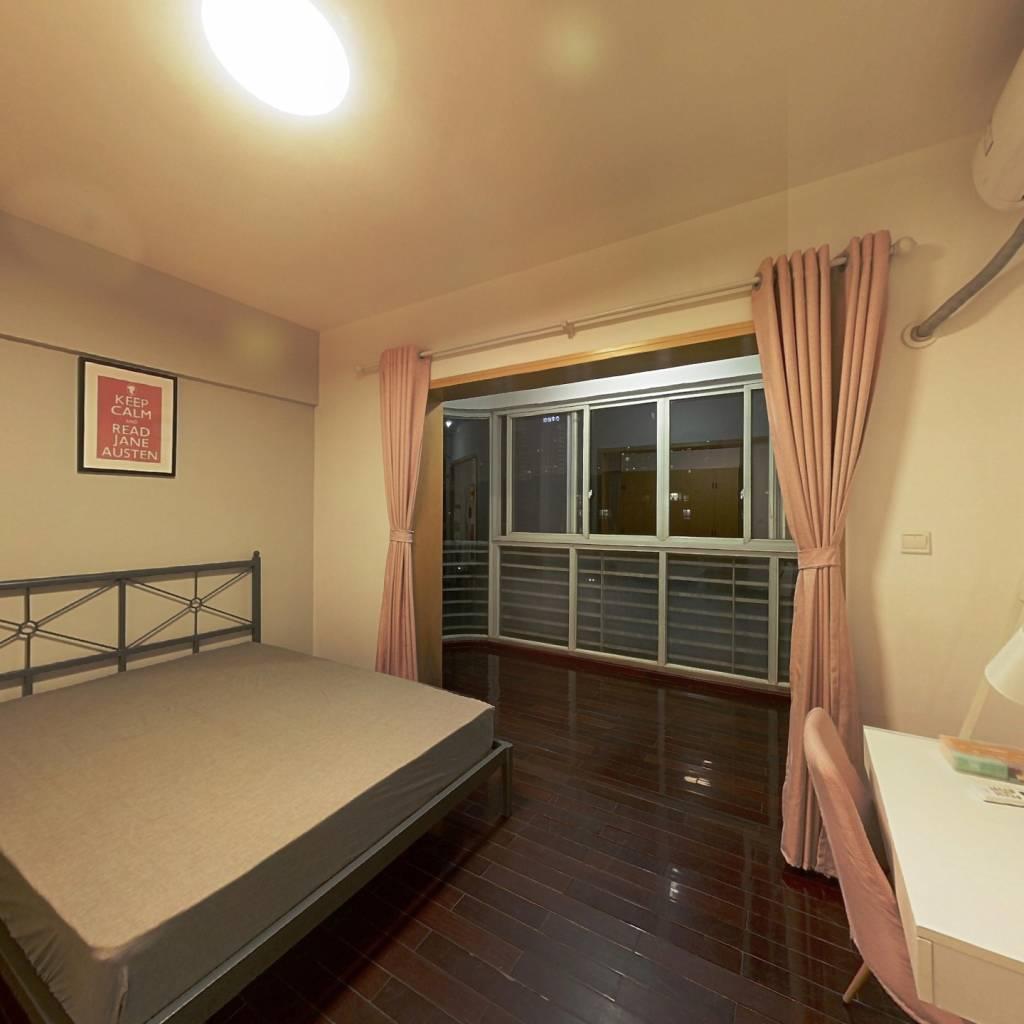 合租·中房蓝水湾 4室1厅 西北卧室图