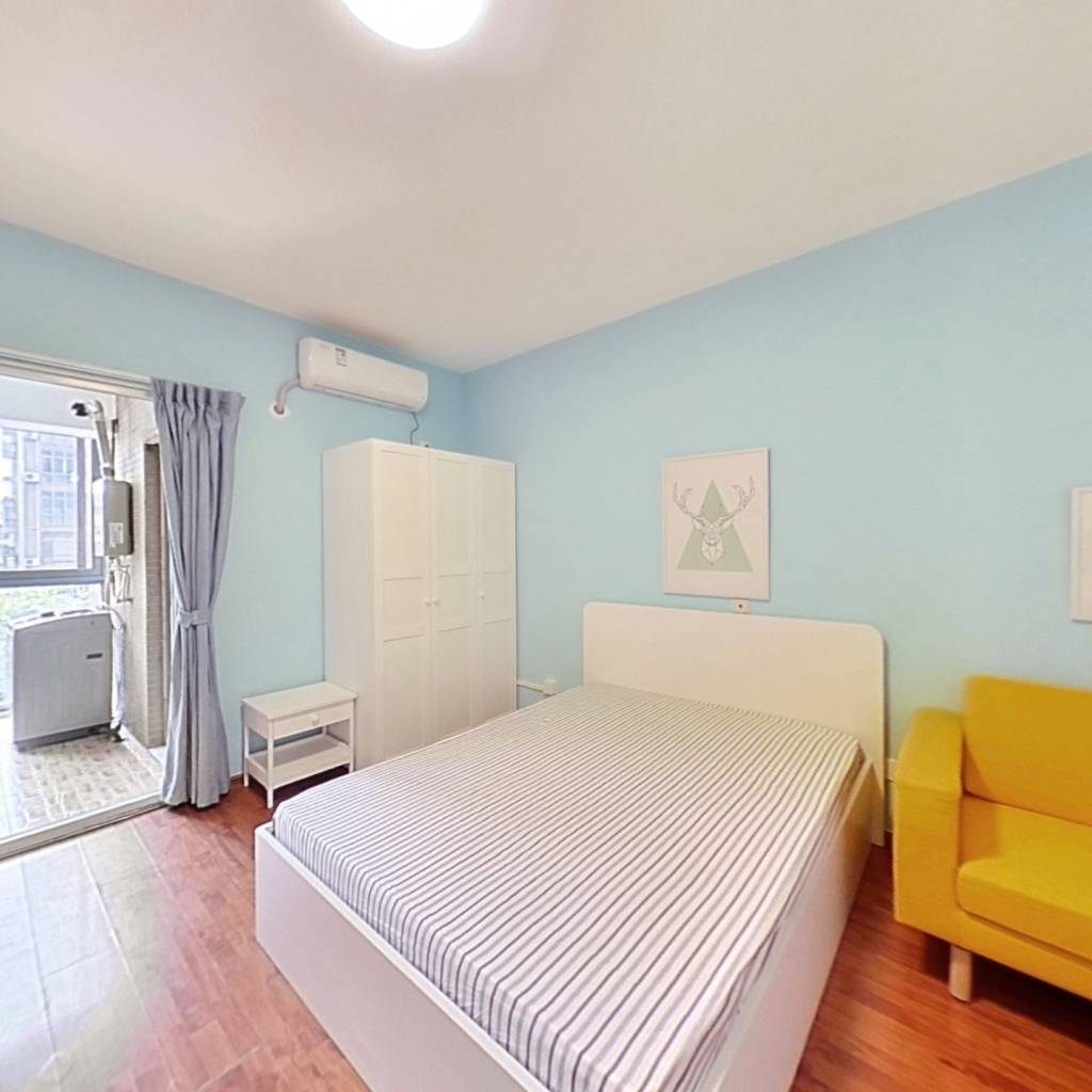 整租·丽景华庭二期 1室1厅 南卧室图