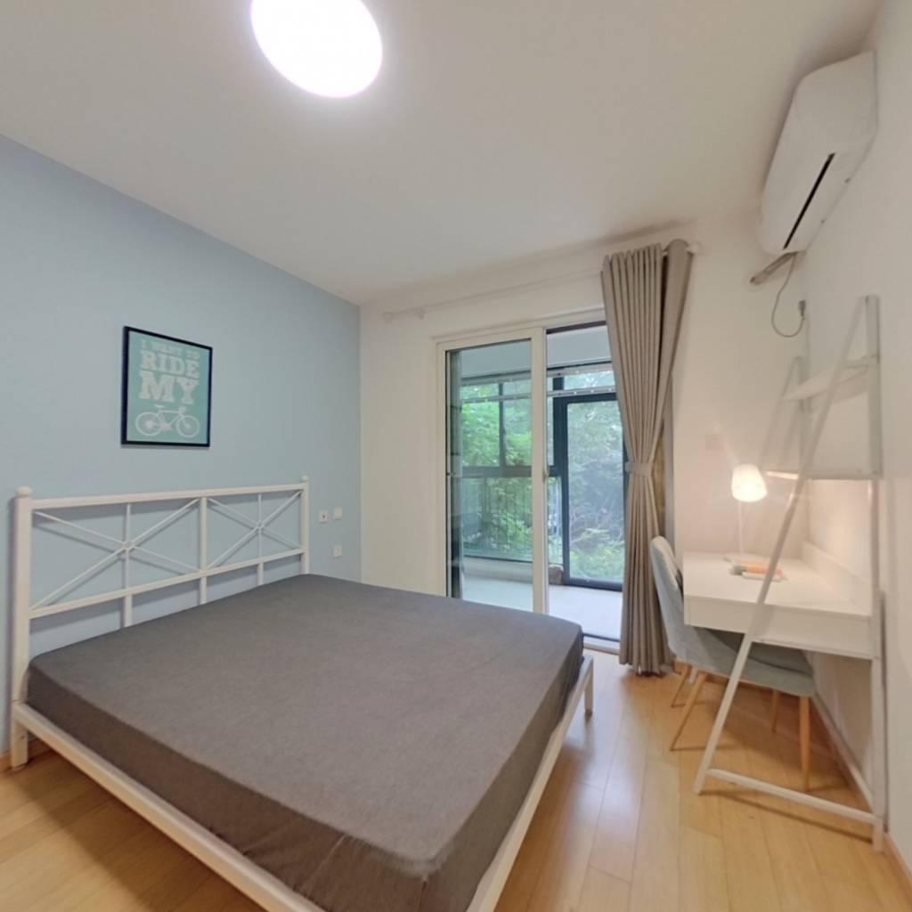 合租·万科魅力之城南区 4室1厅 北卧室图