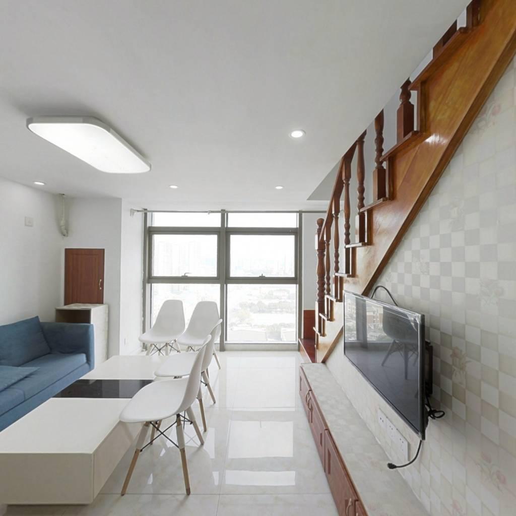 嘉悦大厦 精装两房 复式挑高 全新装修
