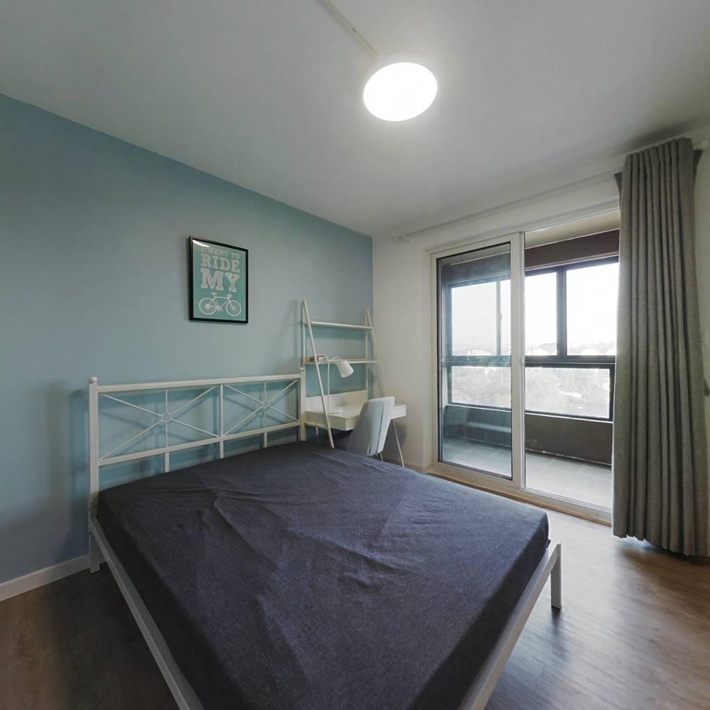 合租·紫杨佳园 3室1厅 北卧室图