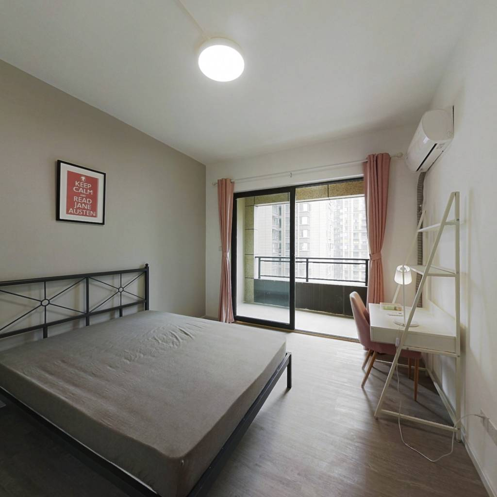 合租·中港CCPARK 4室1厅 西北卧室图