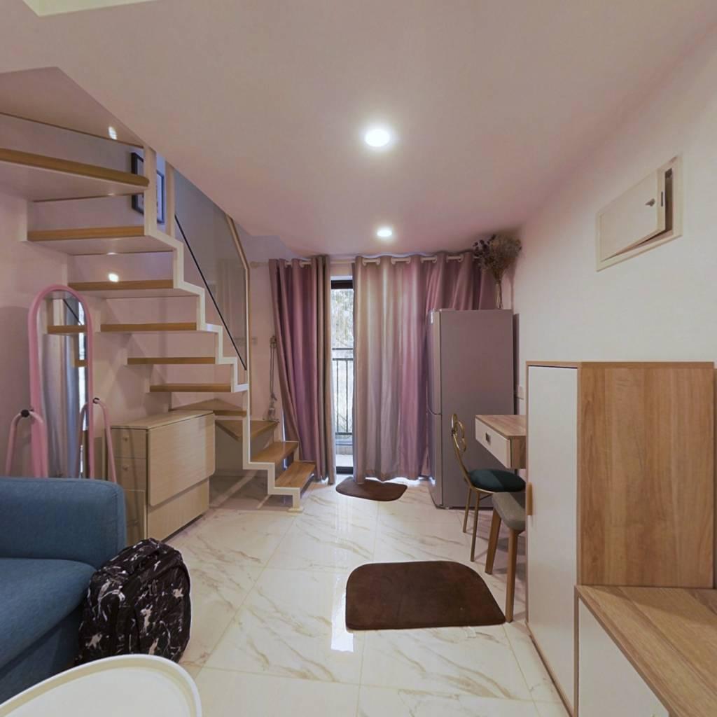 此房精装修高楼层,复式两房 视野好