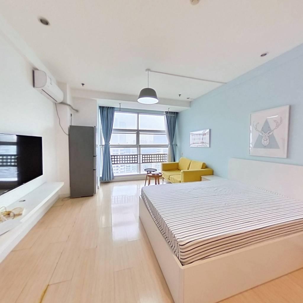 整租·紫鑫国际公寓 1室1厅 南卧室图