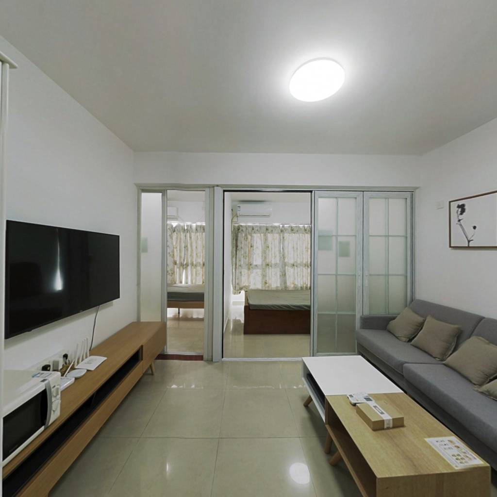 整租·白金酒店公寓 2室1厅 西南卧室图
