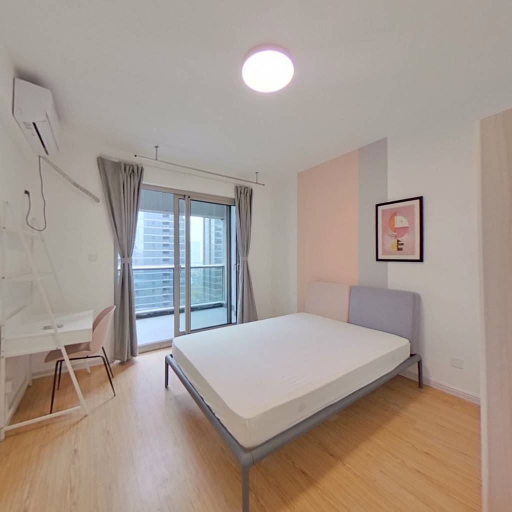 合租·欧美金融城 4室1厅 北卧室图
