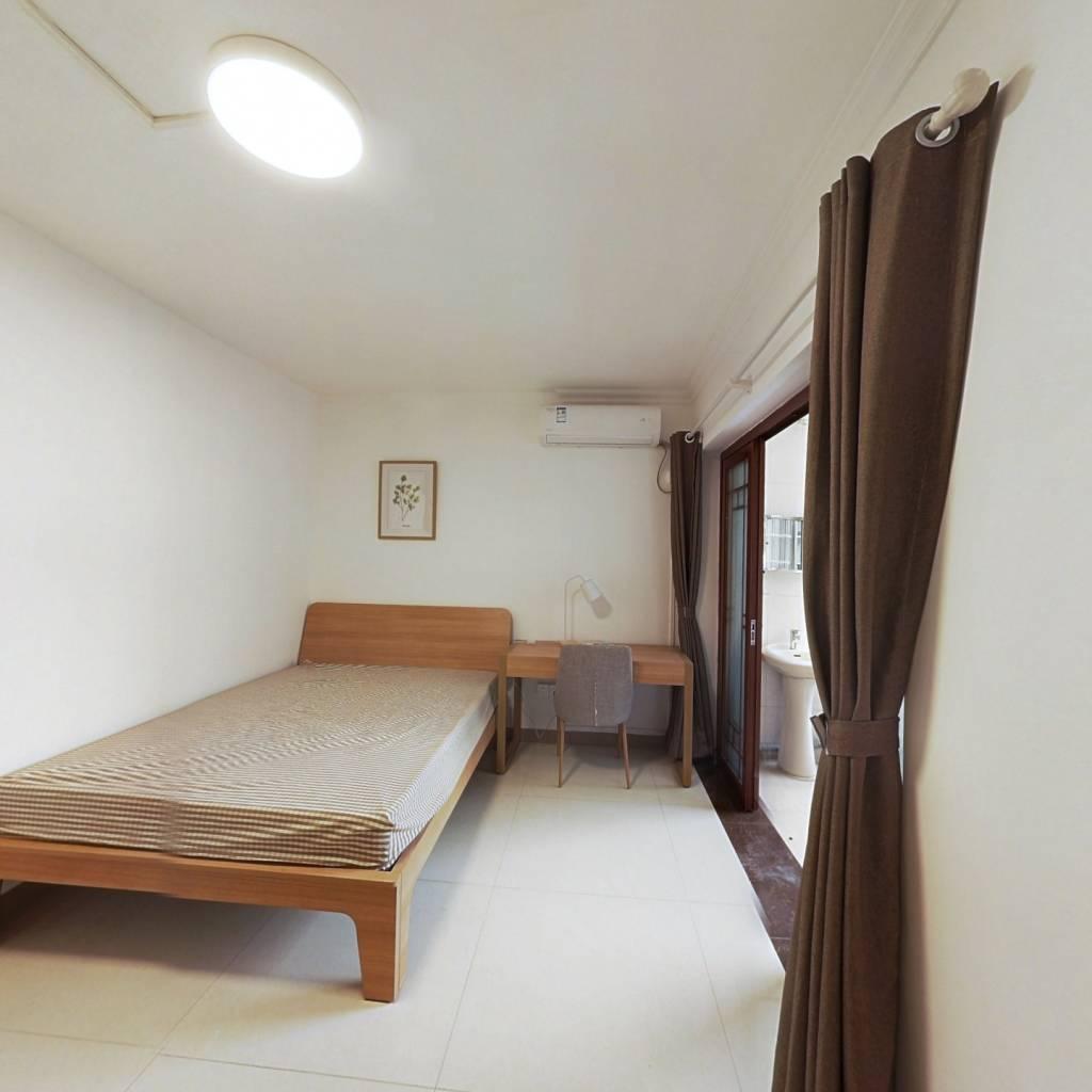 合租·恒康阁 4室1厅 北卧室图