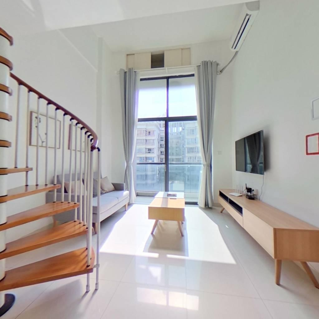 整租·铂林国际公寓 1室1厅 南卧室图