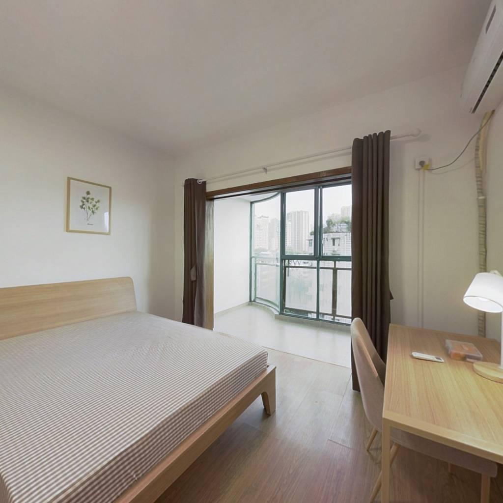 合租·现代城人民公园 3室1厅 东北卧室图