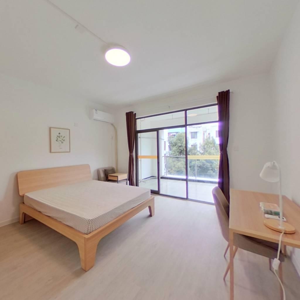 合租·左岸花都 4室1厅 西南卧室图