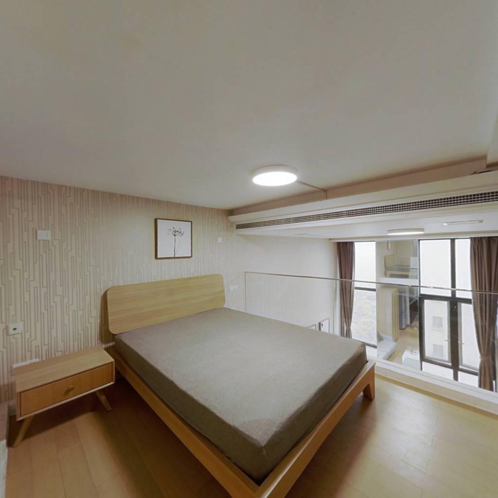 整租·金地格林世界格林公馆(酒店式公寓) 1室1厅 南卧室图