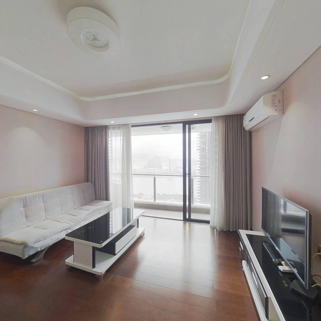 中信红树湾 精装一房一厅 大阳台 东南向看河景