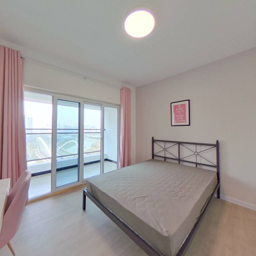 合租·普得先锋国际 4室1厅 西北卧室图