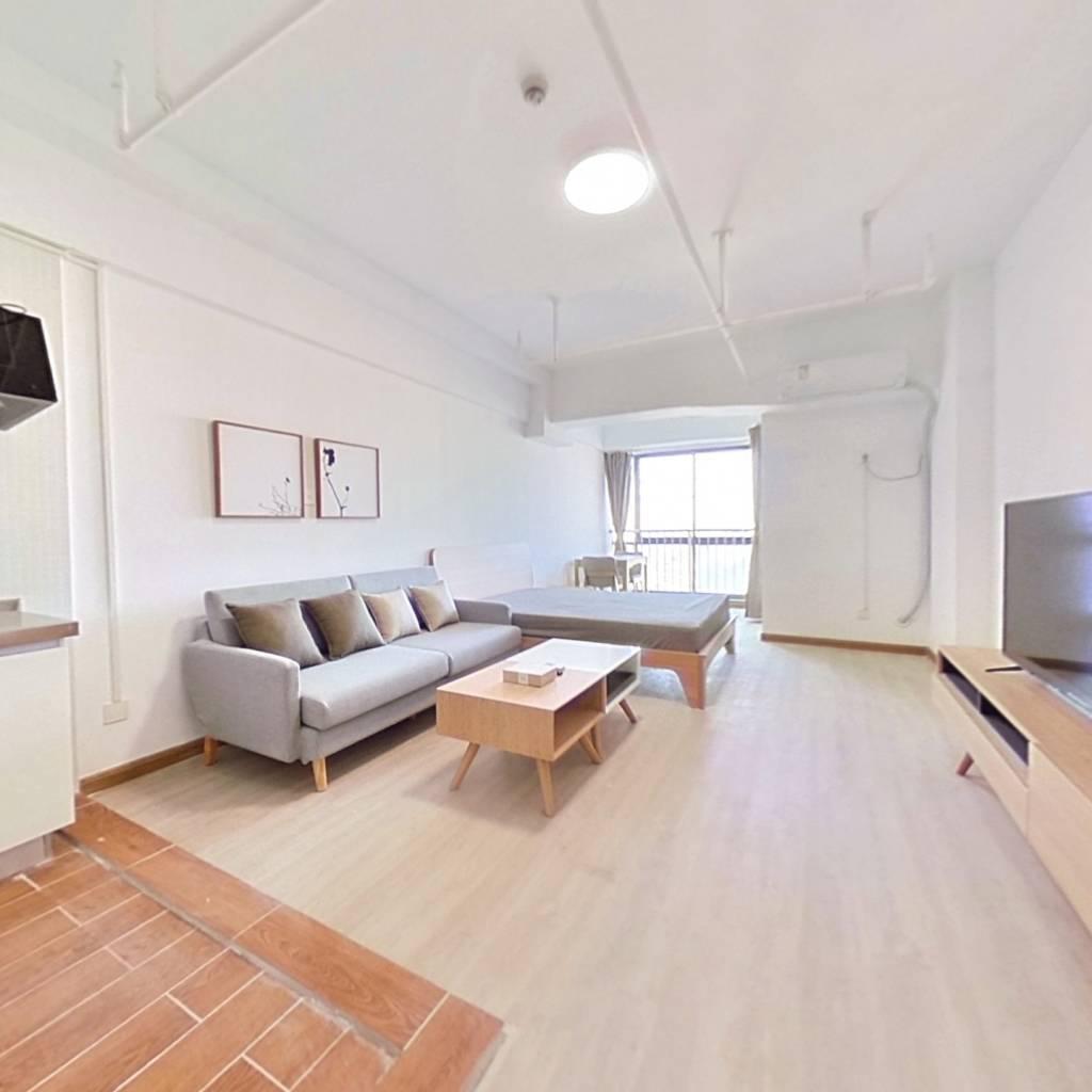 整租·V6时代新源商务楼 1室1厅 北卧室图