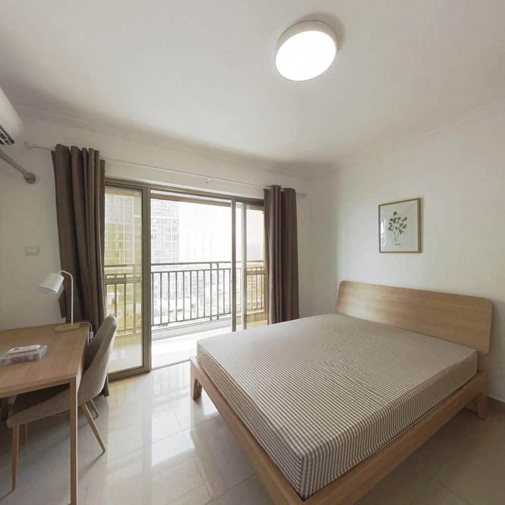 合租·纵横国际公寓 4室1厅 北卧室图