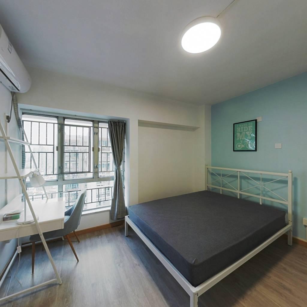 合租·钜建大厦 3室1厅 南卧室图