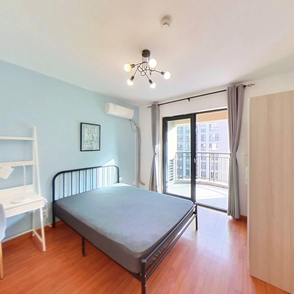 合租·德信金泊林公寓 4室1厅 北卧室图
