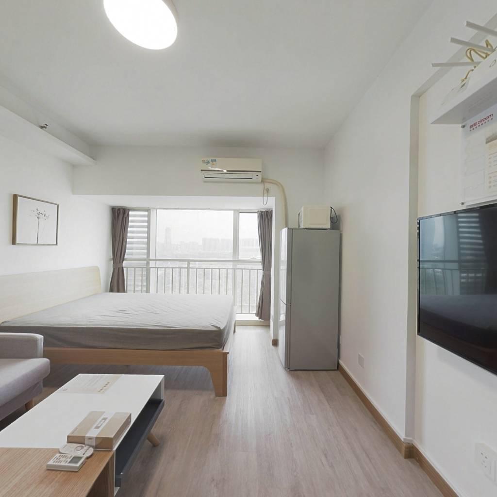 整租·海岸时代公寓 1室1厅 北卧室图