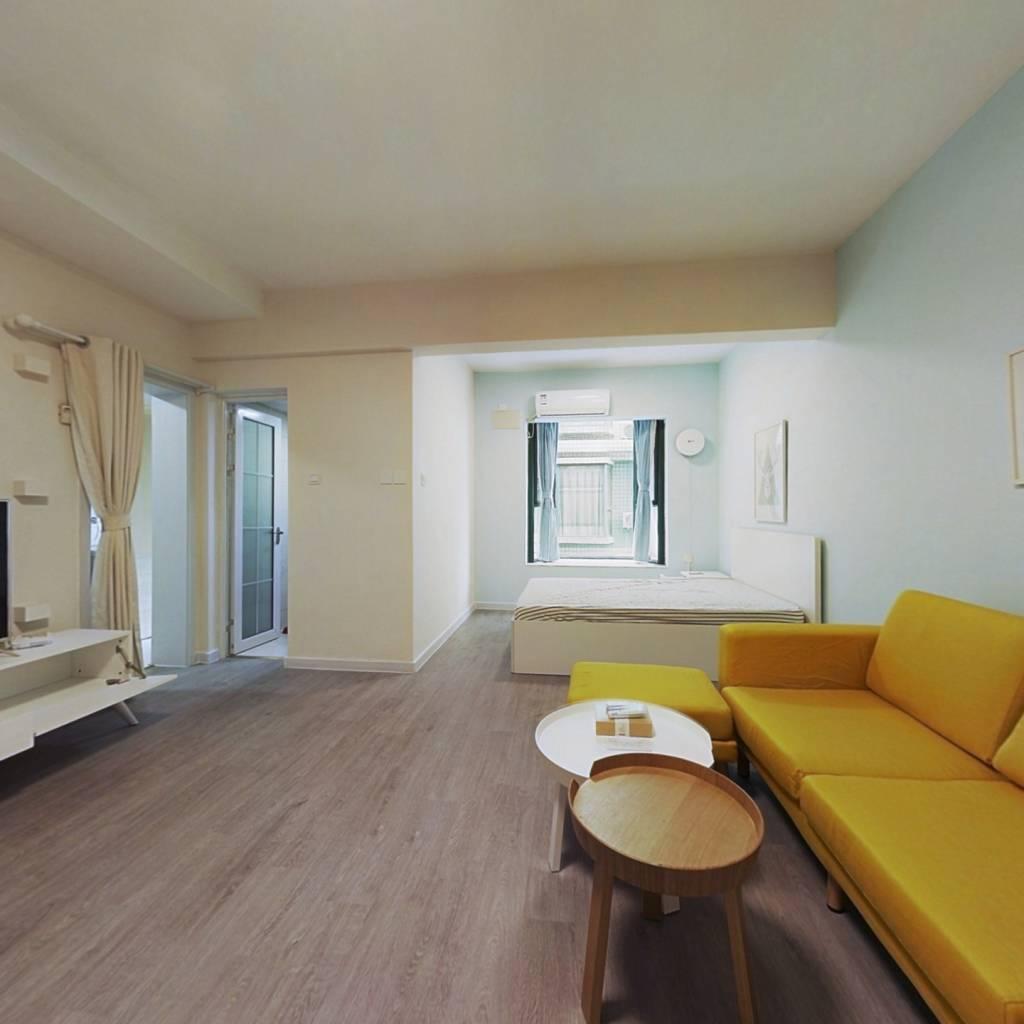 整租·现代城人民公园 1室1厅 西卧室图