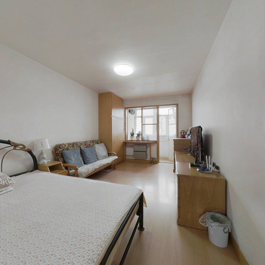 牡丹园南北通透两居室、楼龄新、总价低、公房